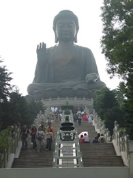 View looking up as you ascend to Big Buddha - Photo by Hendson Quan