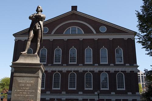 travel and talk boston freedom trail photograph,boston tea party,samuel adams statue photograph,travel boston,travel usa,travel writing,travel writing tom mcgovern,travel