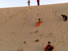 sand surfing travel and talk photograph,travel writing,travel and talk holiday ideas,ten unusual holiday ideas