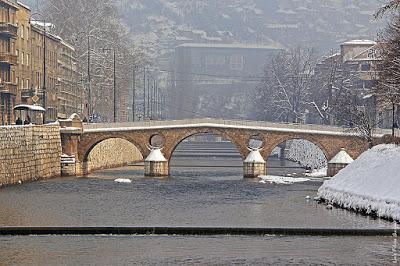 Latin Bridge sarajevo photograph, Miljacka River photograph, sarajevo photograph,bosnia photograph,travel and talk